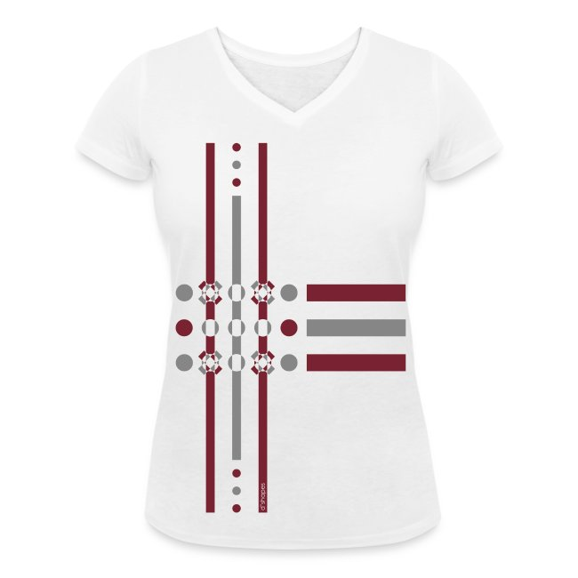 Dots Marsala - Woman V T-shirt