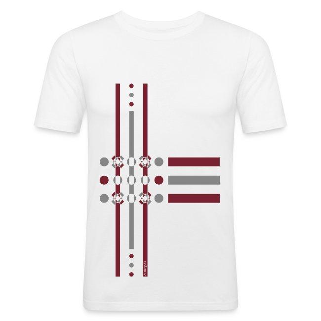 Dots Marsala - Man Slim T-shirt