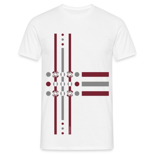 Dots Marsala - Man T-shirt   - Maglietta da uomo