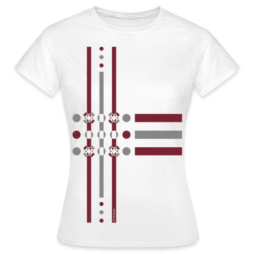 Dots Marsala - Woman T-shirt - Maglietta da donna
