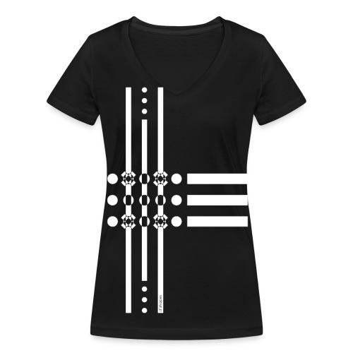 Dots White - Woman V T-shirt - T-shirt ecologica da donna con scollo a V di Stanley & Stella