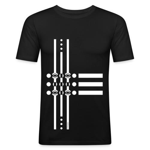 Dots White - Man Slim T-shirt   - Maglietta aderente da uomo