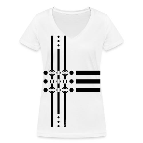 Dots Black - Woman V T-shirt - T-shirt ecologica da donna con scollo a V di Stanley & Stella