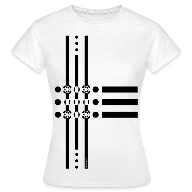 Dots Black - Woman T-shirt