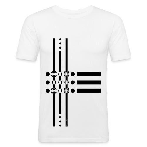 Dots Black - Man Slim T-shirt   - Maglietta aderente da uomo