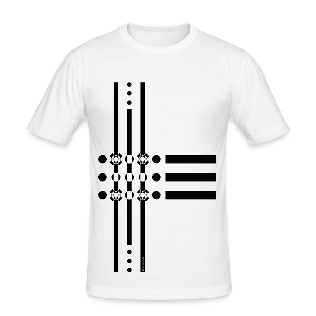 Dots Black - Man Slim T-shirt