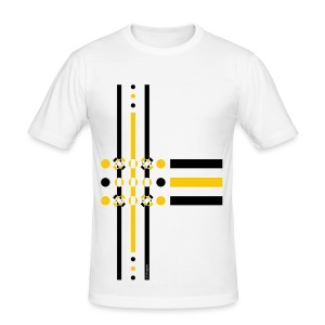 Dots Yellow - Man Slim T-shirt   - Maglietta aderente da uomo