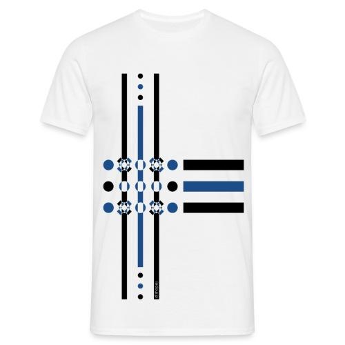 Dots Blue - Man T-shirt   - Maglietta da uomo