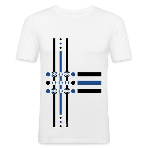 Dots Blue - Man Slim T-shirt   - Maglietta aderente da uomo