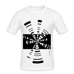 Radio White - Man Slim T-shirt   - Maglietta aderente da uomo