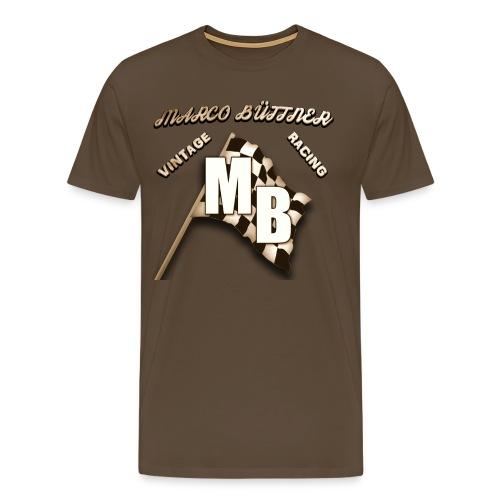 Zielflagge Vintage/Retro Design - Männer Premium T-Shirt