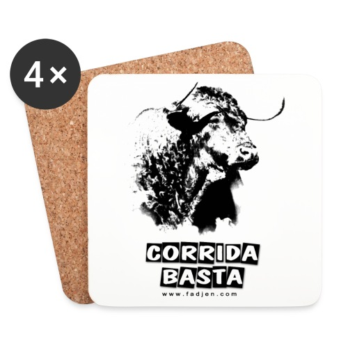 Lot de 4 dessous de verre en liège laqué anti corrida Corrida Basta - Dessous de verre (lot de 4)