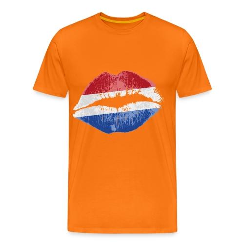 Oranje Kus - Mannen Premium T-shirt