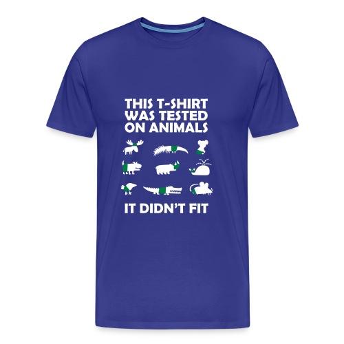 Animal Tested - Mannen Premium T-shirt