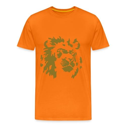 Oranje Leeuw van goud - Mannen Premium T-shirt