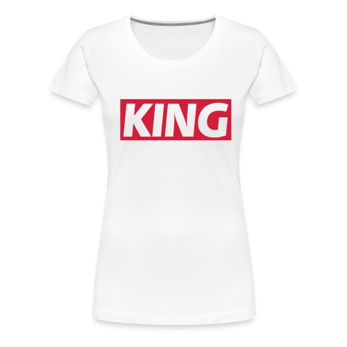 King  - Dame premium T-shirt