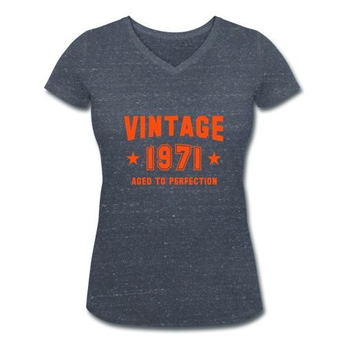 VINTAGE - T-shirt ecologica da donna con scollo a V di Stanley & Stella