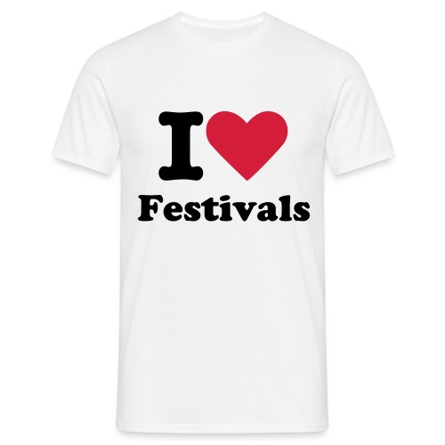 I love festivals T-shirt - Herre-T-shirt
