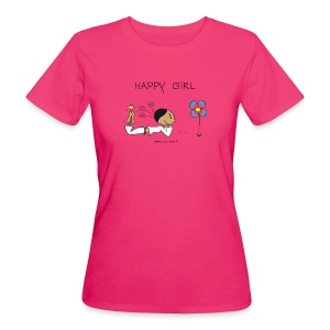 Happy Girl  - Frauen Bio-T-Shirt