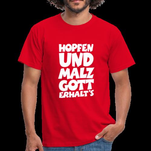 Biertinker T-Shirt. Hopfen und Malz, Gott erhalts! - Männer T-Shirt