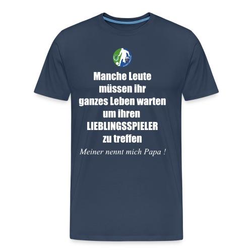 Fan Shirt Papa - Männer Premium T-Shirt