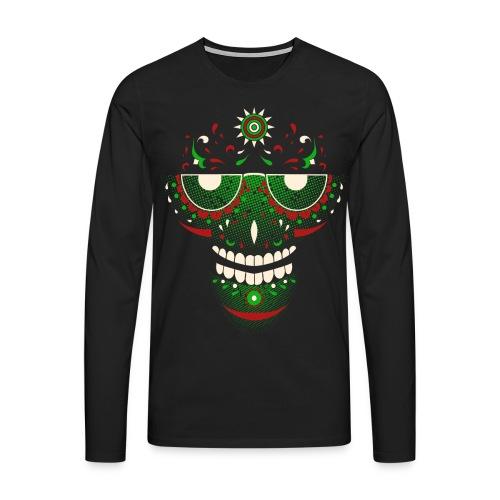 Weed Skull | Longsleeve - Männer Premium Langarmshirt