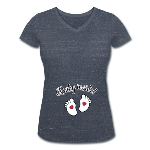 Baby inside! - Frauen Bio-T-Shirt mit V-Ausschnitt von Stanley & Stella