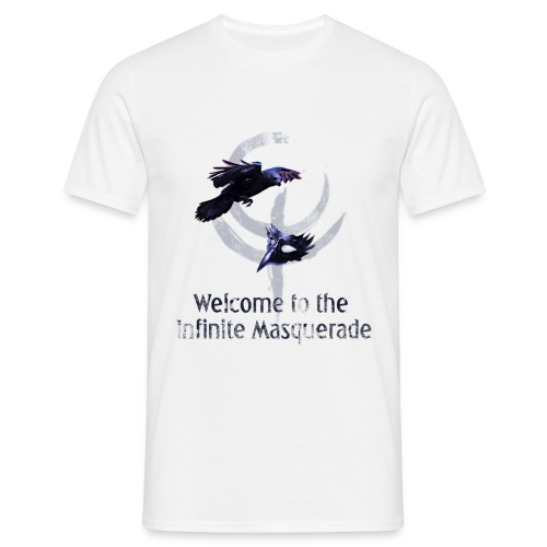 Masquerade Infinite Men's T-Shirt 2 White - Men's T-Shirt
