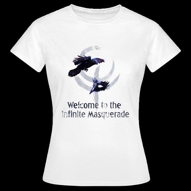 """""""Masquerade Infinite"""" Women's T-Shirt 2 White"""