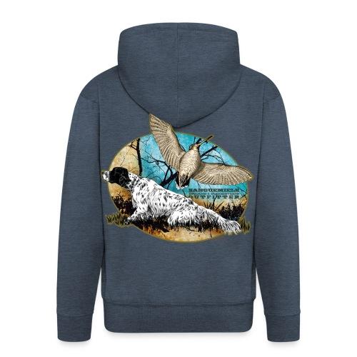 setter woodcock 2015 - Felpa con zip Premium da uomo