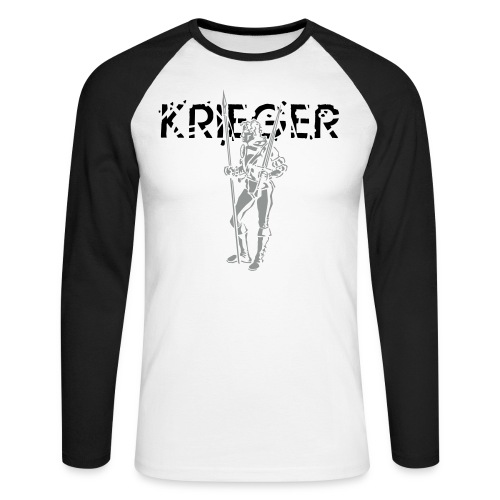 Krieger/Maske, Herren-Langarm-Shirt - Männer Baseballshirt langarm