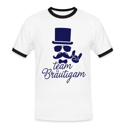 Team groom - Männer Kontrast-T-Shirt