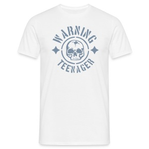 Warning teenager - Männer T-Shirt