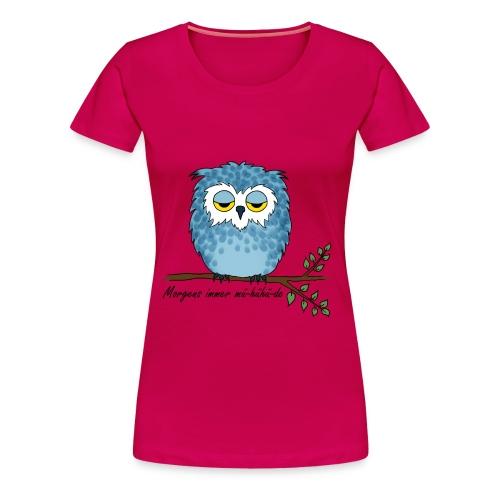 Damen T-Shirt Motiv Eule - Frauen Premium T-Shirt