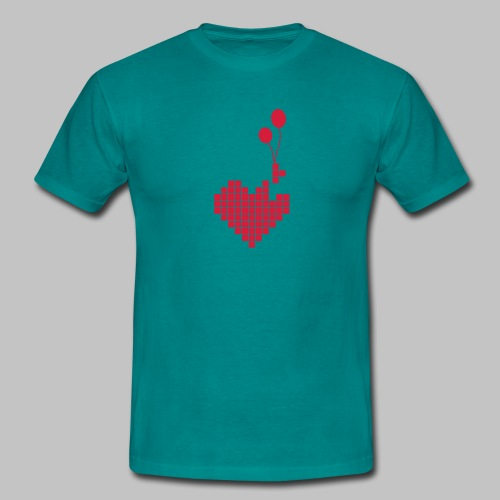 T-shirt Homme (man) Heart'n Balloons - Men's T-Shirt