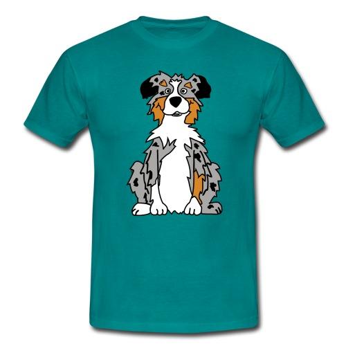 Blue Merle Australian Shepherd - Männer T-Shirt