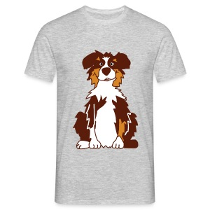 Red Tri Australian Shepherd - Männer T-Shirt
