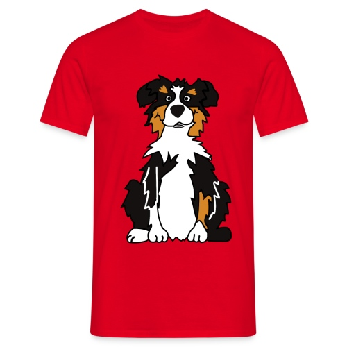 Black Tri Australian Shepherd - Männer T-Shirt