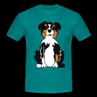 T-Shirts ~ Männer T-Shirt ~ Black Tri Austrlian Shepherd
