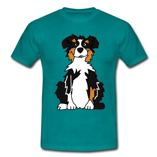 Black Tri Austrlian Shepherd - Männer T-Shirt
