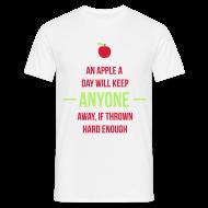 T-Shirts ~ Men's T-Shirt ~ An apple a day will keep anyone away