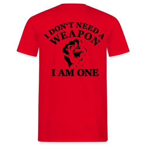 I am a weapon - Männer T-Shirt