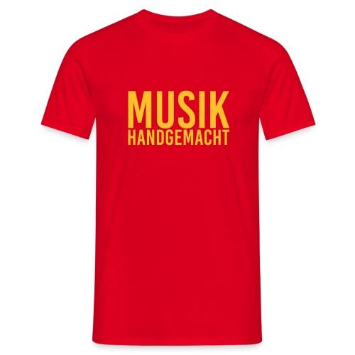 Musik handgemacht Shirt (Herren) gelb - Männer T-Shirt