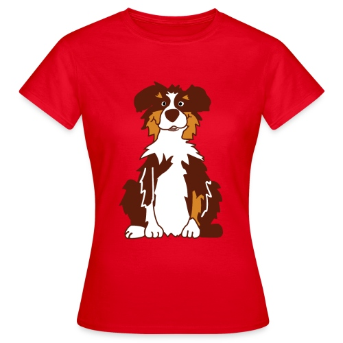 Red Tri Australian Shepherd - Frauen T-Shirt