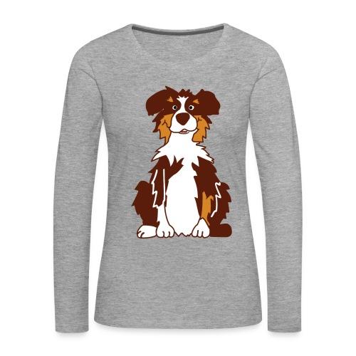 Red Tri Australian Shepherd - Frauen Premium Langarmshirt