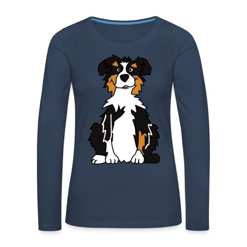 Black Tri Australian Shepherd - Frauen Premium Langarmshirt