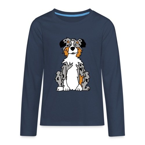 Blue Merle Australian Shepherd - Teenager Premium Langarmshirt