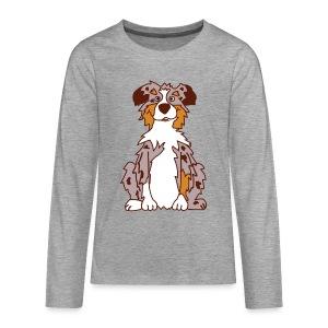 Red Merle Australian Shepherd - Teenager Premium Langarmshirt