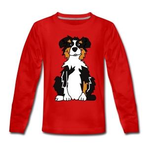 Black Tri Australian Shepherd - Teenager Premium Langarmshirt