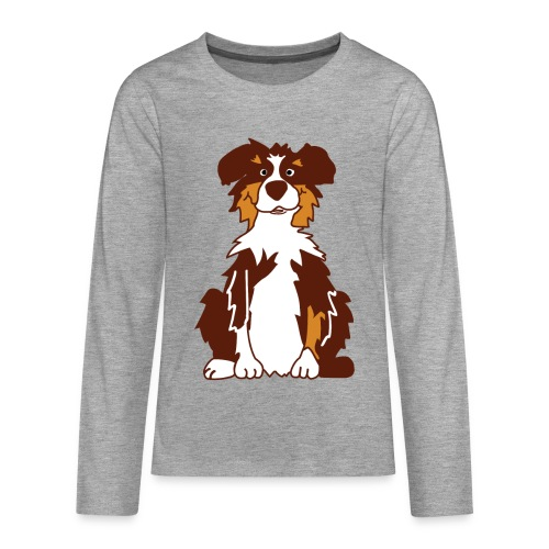 Red Tri Australian Shepherd - Teenager Premium Langarmshirt